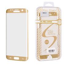 ^ Schutzfolie Panzerglas Schutzglas FULL FACE Samsung Galaxy S6 Edge Plus GOLD