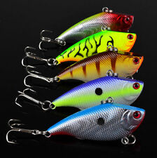 New 5pcs Set VIB Fishing Lure Bass Crankbait Freshwater Baits Tackle 5.5cm/7.5g