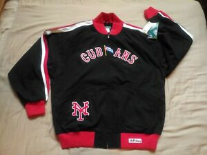 STALL & DEAN THROWBACK BASEBALL JACKET◾*NY CUBANS*◾NEGRO LEAGUES◾SZ 5XL NWT
