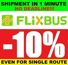 2x1 COUPON 10% FLIXBUS NO DEADLINE IMMEDIATE SHIPMENT GOOD VOUCHER CODE DISCOUNT