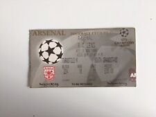 Arsenal V Racing Lens Wembley Ligue des Champions Groupe E 25/11/98 ticket
