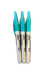 Sharpie Retractable Permanent Markers Fine Point Teal 3 Count