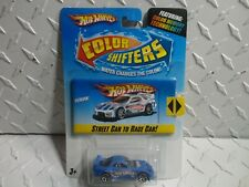 HOT WHEELS Color Shifters Street Car to Race Car Blue 24/7