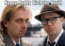 BOTTOM tv Ade Edmondson Rik Mayall PERSONALISED Happy Birthday SPOOF art Card