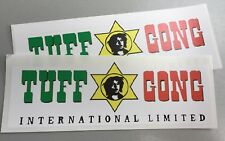 2 Unused Vinyl Stickers reggae ska tuff gong Marley Jamaica ub40 laptop 15cm car