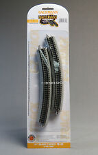 BACHMANN N SCALE E-Z TRACK 14 INCH RADIUS CURVE PACK 6 PC gray roadbed 44853 NEW