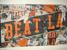 "San Francisco Giants Beat LA Flag 36"" x 58"" SGA 4/9/16 Los Angeles Dodgers SF"