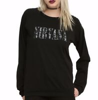 Nirvana TIE DYE LOGO Girls Long Sleeve Top T-Shirt NWT Licensed & Official