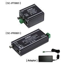 Samsung SeeEyes IP-Link Transmission SC-IPC0801 CCTV Transmitter Receiver Set