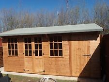 16x8 Wooden Summer House /Garden  Shed / Combo/ Multibuilding with partition