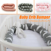 Infant Toddler Baby Crib Bumper Safety Protection Cushion Pillow Room Bedding