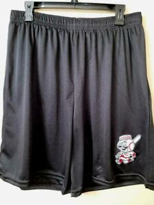 0724 Mens CINCINNATI REDS Jersey Polyester Embroidered SHORTS W/Pockets Black
