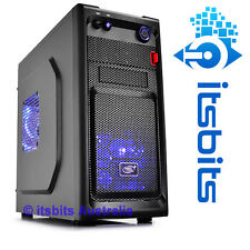 DEEPCOOL SMARTER BLACK MID MINI ATX ITX COMPUTER CASE 2x BLUE LED FANS USB 3.0