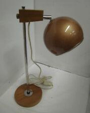 60 / Años 70 Diseñador Lámpara de Mesa Escritorio Madera Teca Panton Era 60s 70s
