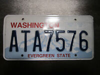 Washington (ATA7576) American License Number Plate Collecting Craft Hobby