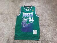 100% Authentic Ray Allen Mitchell Ness 96 97 Bucks Jersey Mens Size 48 XL