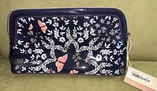 NWT Ted Baker London Kyoto Gardens Cosmetic Makeup Case Wash Bag Blue Full Size