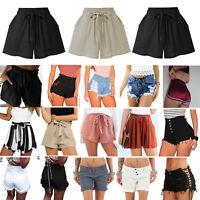 Womens Ladies Summer Casual Stretch Ripped Denim Jeans Shorts Beach Mini Pants