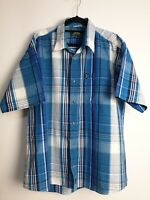 Jeep Men's Casual Multi Color Check Short Sleeve Shirt Size L