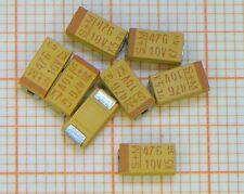 100 Stück Tantal Kondensator 47µF / 10V  = SMD = Gehäuse C = von S+M (Epcos) =