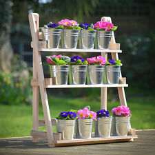 Wooden Garden Plant Display Stand 3 Tier Shelf Rack Theatre Flowers Storage