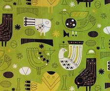 RPFMO43  MODA Atomic Retro Kitsch Kinetic Bird MCM Style Cotton Quilt Fabric