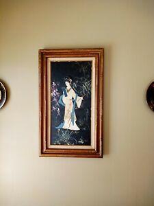 Oil Certified Canvas Painting Art Geisha Oriental Asian Woman AI Inc. #58584