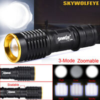 5000LM CREE Q5 AA/14500 3 Mode Zoomable LED Flashlight Camping Hiking Torch Lamp