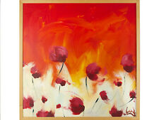 Lee Woods Oil on Board Red Tulips/Roses c1990