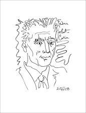 """Pablo PICASSO - Lithographie """" Frédéric Joliot Curie """" Signée/Datée - 65x50 cm"""