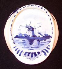 Delfts Holland Cap Hat Pin Dish Ashtray, Vintage