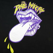 ACRYLICK TASTE MAKERS PIERCED VAMPIRE MOUTH TONGUE TEE T SHIRT Sz XXL
