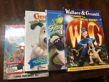 Lot of 4 Aardman Dvds - (2) Wallace Gromit Shaun Pirates - Animated Claymation