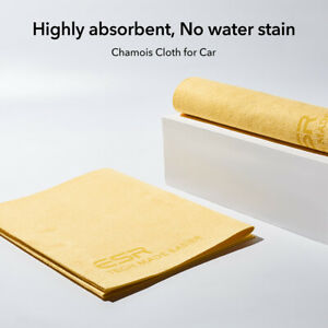 ESR Premium Chamois Leather Towel for Car Drying Highly Absorbent Scratch-Free