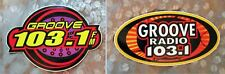 💥Groove Radio 103.1 fm - 2 Vintage Collectible Stickers from 90's💥