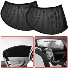 2x Car Rear Side Window Sun Visor Shade Mesh Cover Shield Sunshade UV Protector