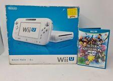 Nintendo Wii U Basic Set 8GB Console Boxed With Super Smash Bro Game
