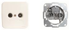SAT Antennendose Unterputz inkl. Abeckung > 5-862MHz; TV male IEC; RD female IEC