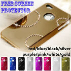 8 colour Bling Glossy Crystal Apple iPhone 4S SE 5 5S hard cover case protector