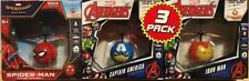 MARVEL AVENGERS 3 PACK Flying UFO BALL Iron Man/Captain America/Spider-Man
