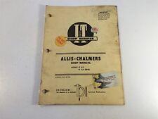 Vintage 1967 Implement & Tractor Shop Manual - Allis-Chalmers D-19 Diesel