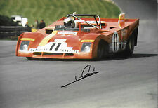 Mario Andretti SIGNED 12x8 SEFAC-Ferrari 312PB  , Brands Hatch 1000kms 1972