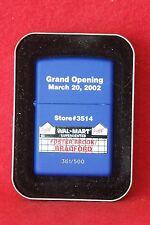 Zippo Lighter    Grand Opening  Wal-Mart  Foster Brook/Bradford  361/500