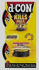 2 Pk D-CON No Mess Touch or View MOUSE TRAP Kills Mice Killer EASY Disposable!!!
