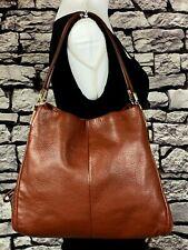 COACH MADISON PHOEBE Brown Pebbled Leather Hobo Shoulder Bag 26224 $395 MSRP