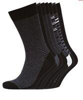 7 Pairs Smith And Jones Mens Blacksmith Socks Black Charcoal Uk 6 - 11 C79