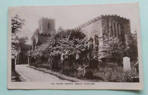 The Parish Church, Bishop Auckland - RP postcard, postally used 1914