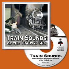 Train Sounds CD Steam & Diesel Locomotives for O Scale Model Railroads