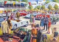 GIBSONS GLORY DAYS 1000 PIECE VINTAGE CAR RACING NOSTALGIA JIGSAW PUZZLE