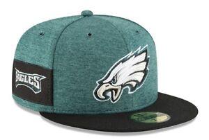 Philadelphia Eagles NFL Team Sideline On Field 59FIFTY Green Black Fitted Cap